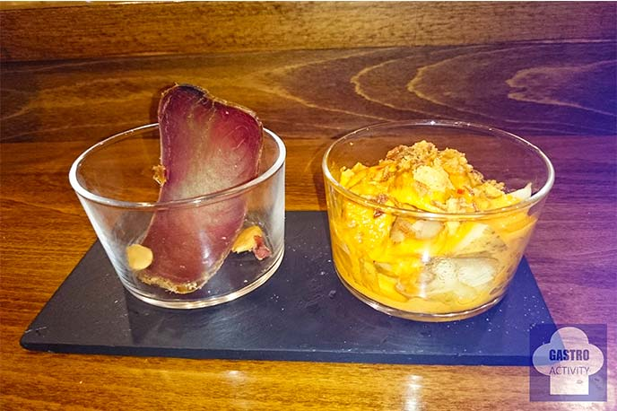 Chato de mojama y Chato de patatas con mojo
