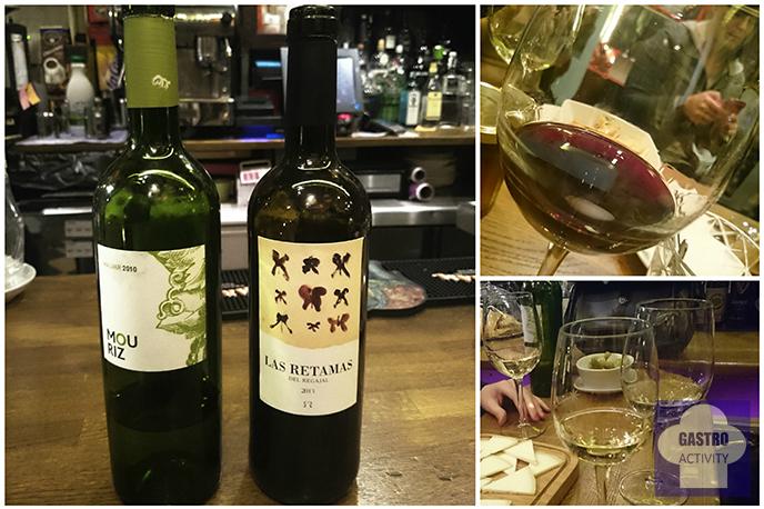 Vino blanco Mouriz y Vino tinto Las Retamas en Sifon bodega colmado Madrid