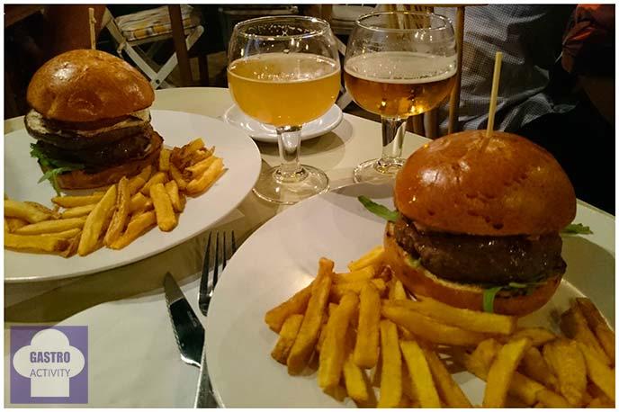 Hamburguesa mediterránea y hamburguesa francesa