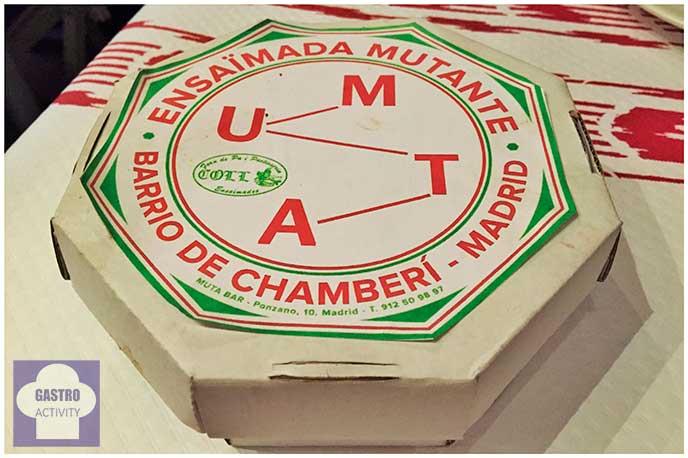 Caja de ensaimada Muta Balear restaurante Muta Madrid