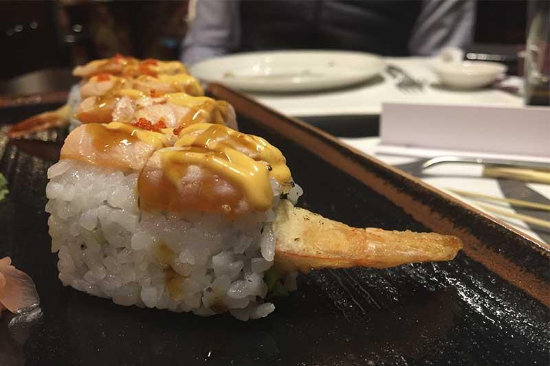 Salmon Dragon Rolls Duck & Sushi