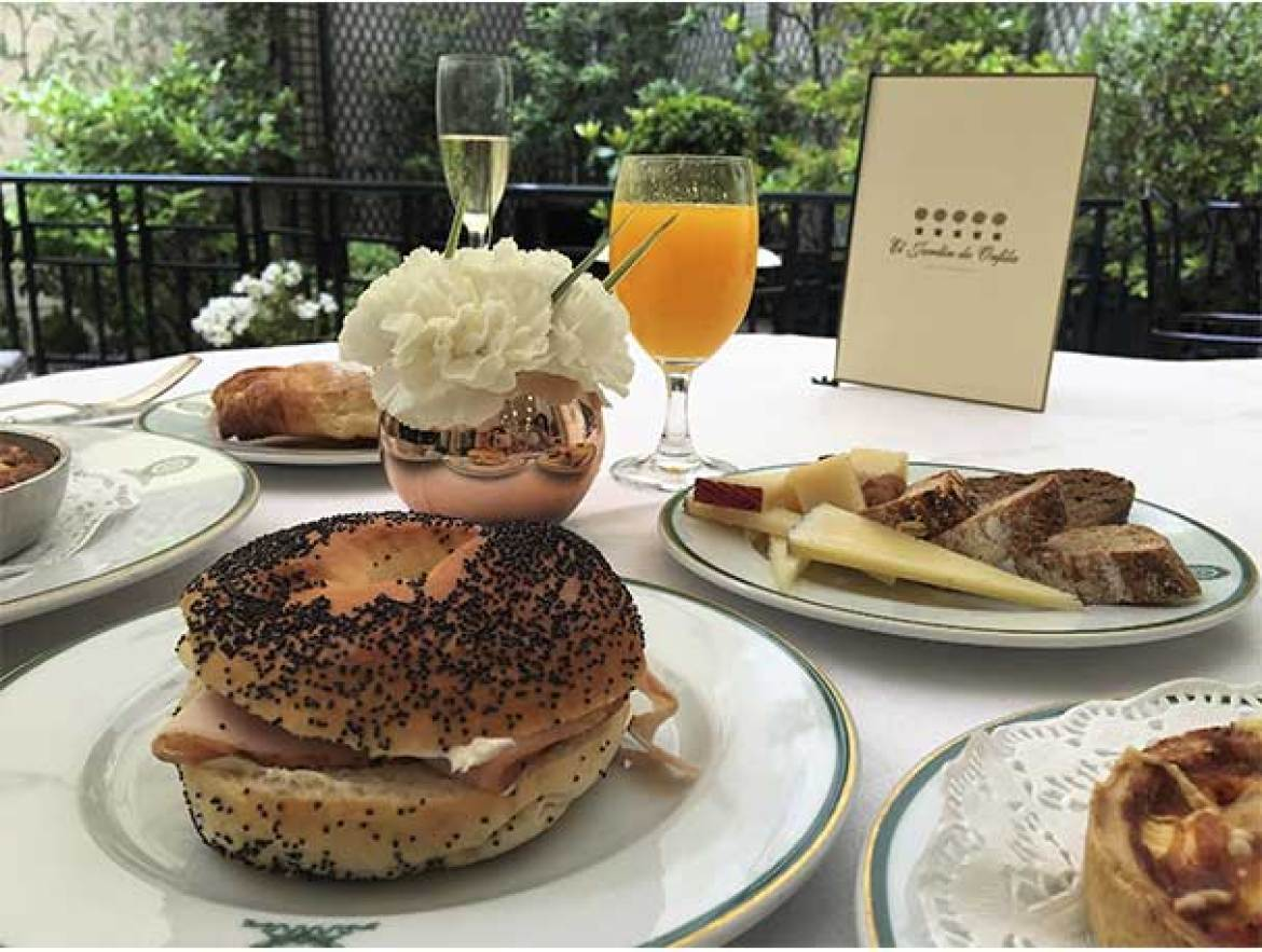 Bagel brunch del Hotel Orfila
