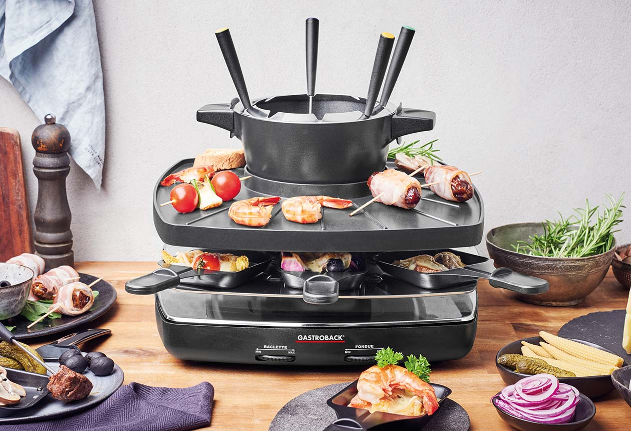 raclette fondue set family and friends