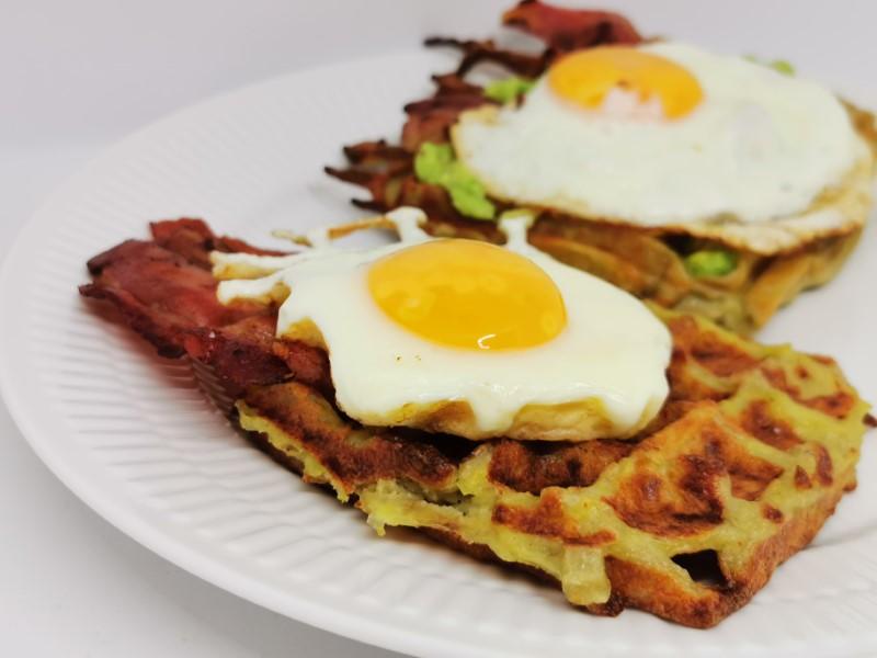 English breakfast vafler