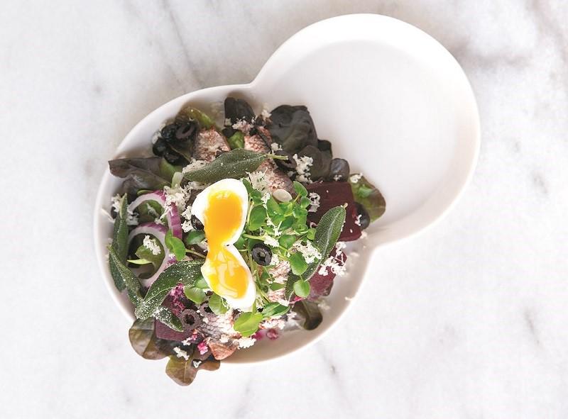 Sildemad med æg