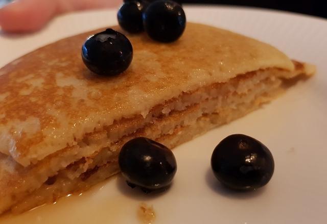 Amerikanske pandekager med vanilje