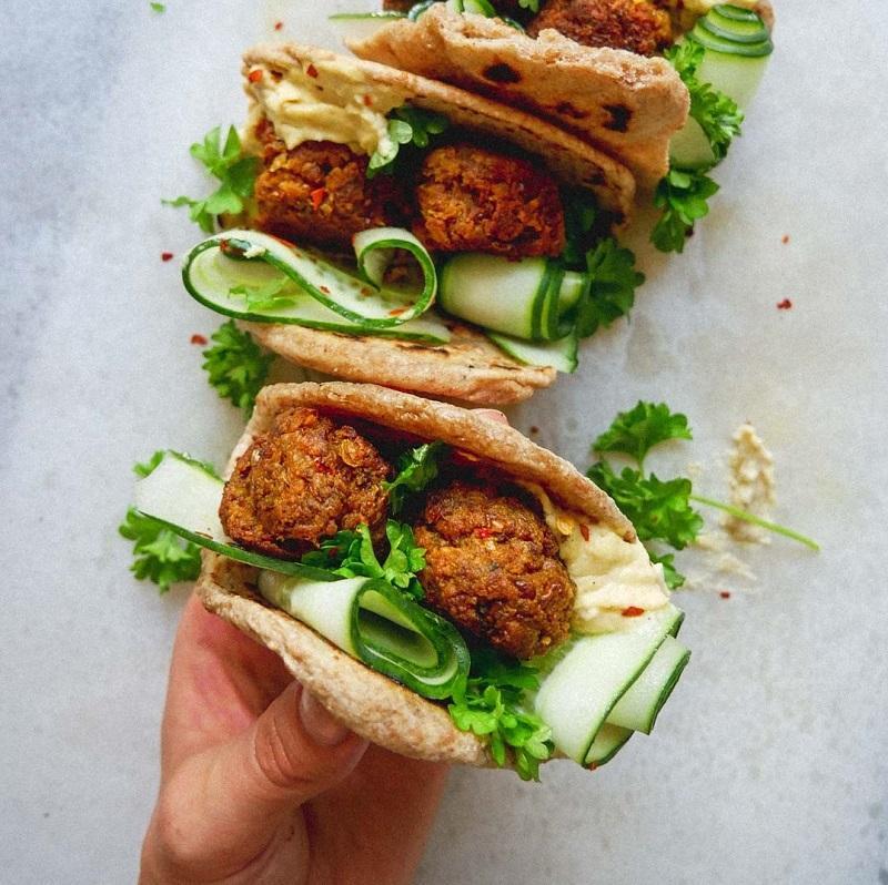 Veganske kødboller med linser og kikærter