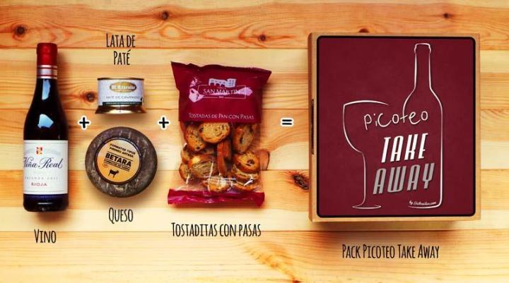 Contenido del pack Picoteo Take Away - Gastroidea.com