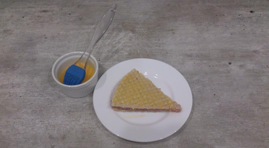 Треугольные котлеты в вафельном корже . Шаг 6