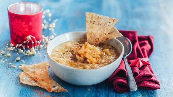 Lebanese Makhluta Lentil Soup