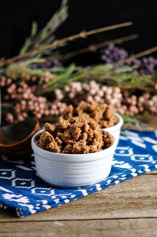 Bourbon Candied Pecans - Sweet crunchy treat
