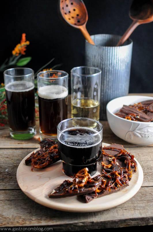 Beer Brickle Chocolate Bar