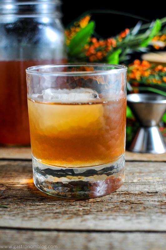 Fall Fun with Family Fare – Peach and Basil Bourbon Shrub