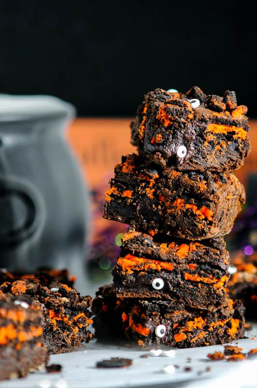 Halloween Oreo Monster Brownies