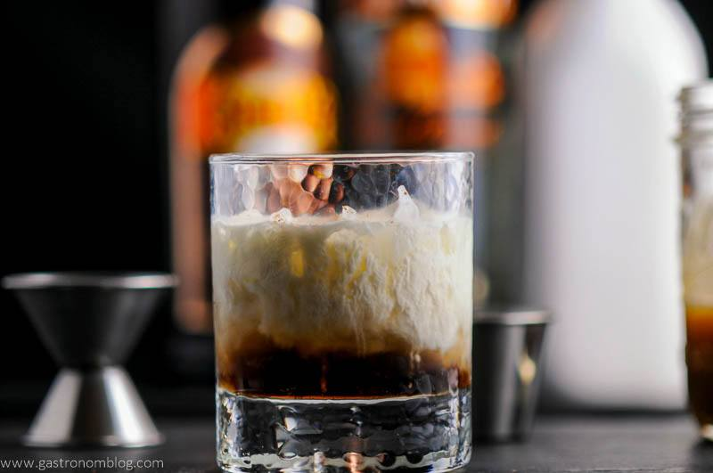 Salted Bourbon Butterscotch White Russian Cocktail