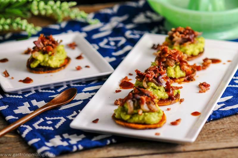 Sweet Potato Guacamole Bacon Bites