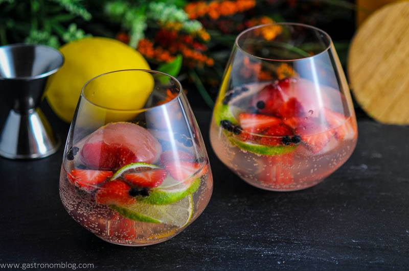 Strawberry Limeade Gin and Tonic Cocktail