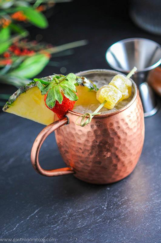 Spicy Pineapple Strawberry Moscow Mule – A Vodka Cocktail