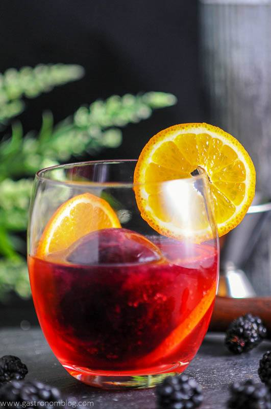 Blackberry and Tangerine Vodka Tonic