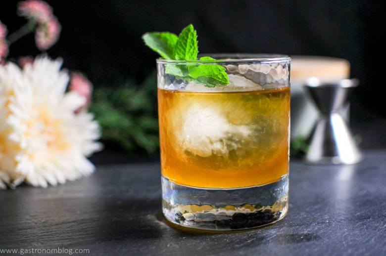 Apricot Honey Bourbon Sour Cocktail