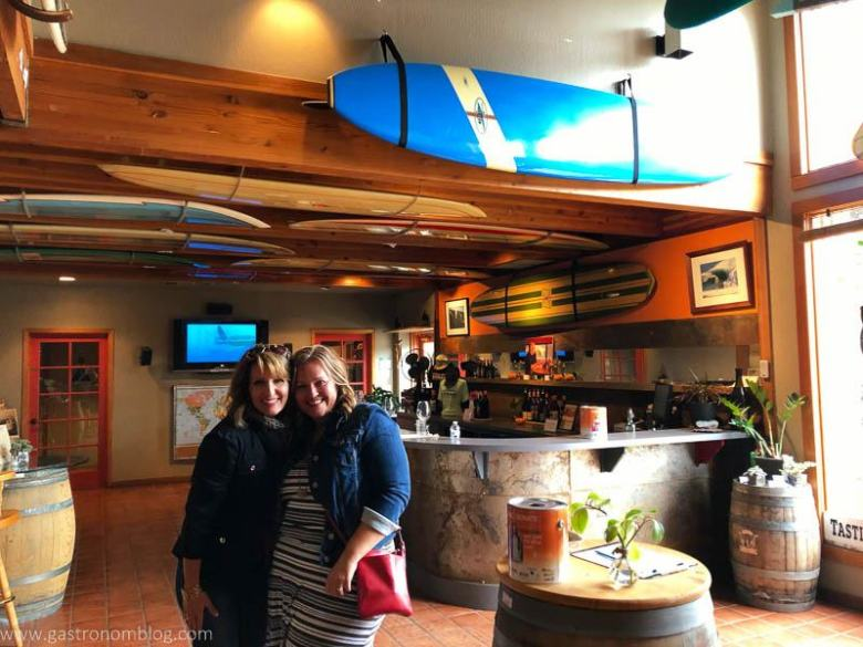 Checking out the Surflounge at Longboard Vineyards!