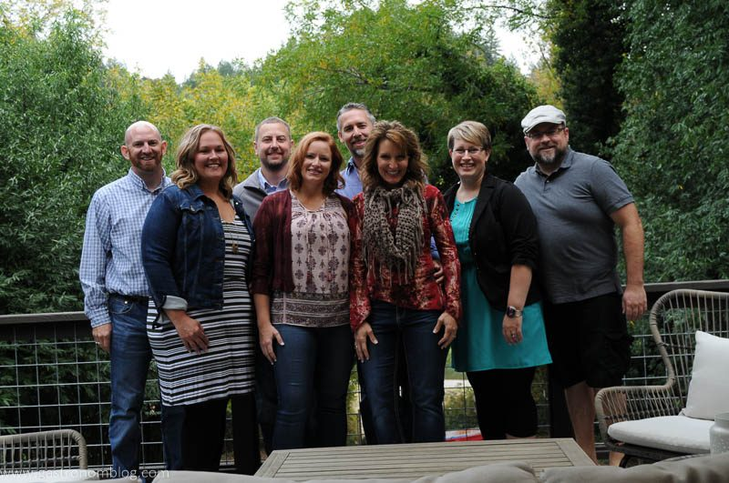 Group Shot of Gastronomblog and friends in Guerneville