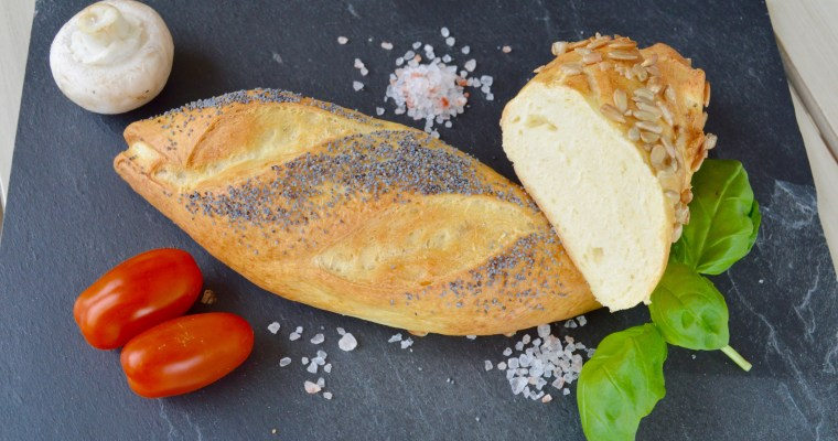 Bretzel Style Mini Baguettes- Мини бъгети с варено тесто