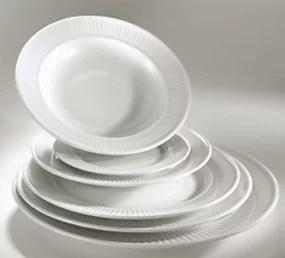Assiettes plates et assiettes creuses