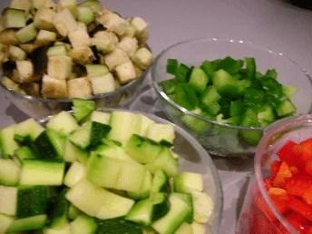 Dés de légumes