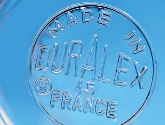 Fond d'un verre Duralex