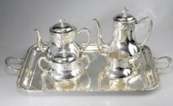 Service à thé en argent