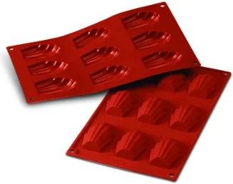 Moules à madeleine en silicone souple