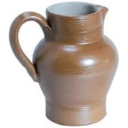 Pichet à eau en grès vernissé