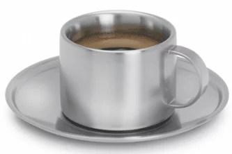 Tasse à café en inox