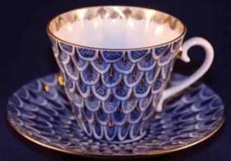 Tasse à café en porcelaine de Saint-Pétersbourg