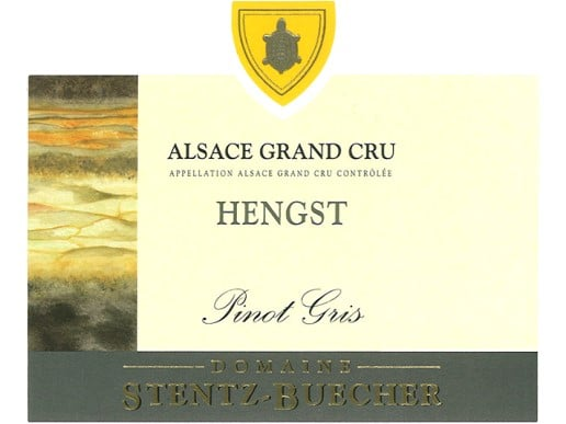Étiquette Alsace grand Cru Hengst