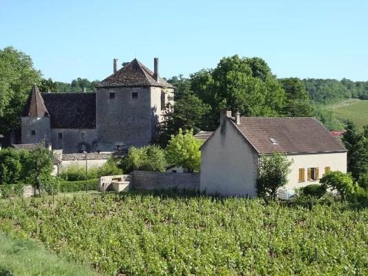 Hameau et château de Gamay en Bourgogne