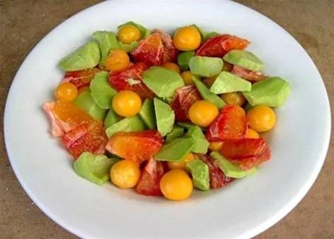 Salade de fruits à l'alkékenge