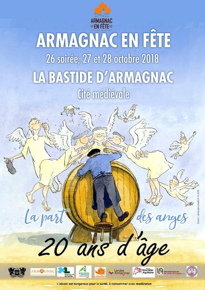 Affiche de la 20ème édition « d'Armagnac en fête » - 2018