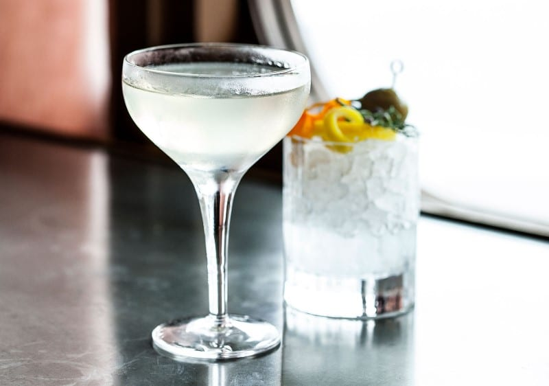 Martini on the rock