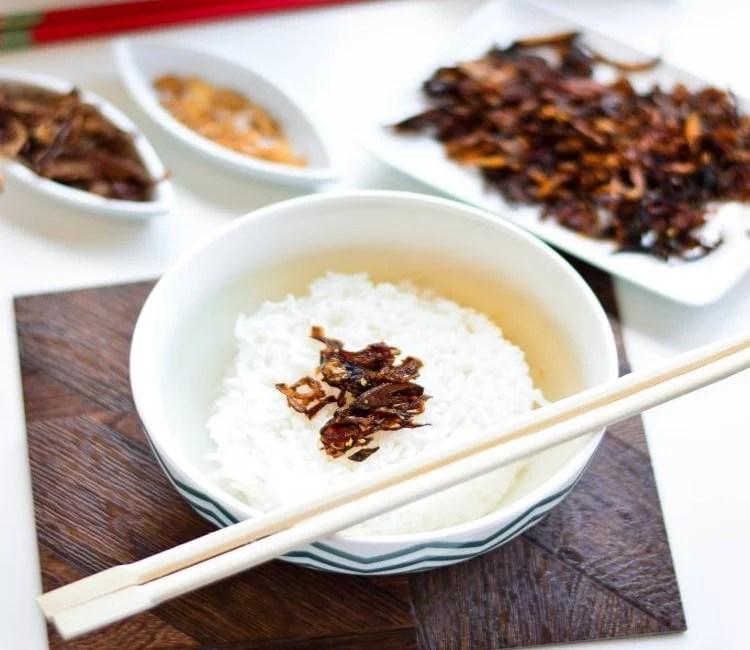 Balachaung kyaw et riz blanc