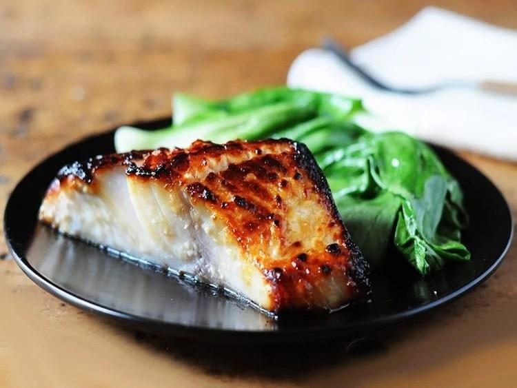 Filet de black cod glacé au miso
