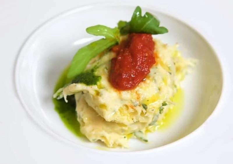 Brandade de morue au citron confit et coulis de tomate provençale