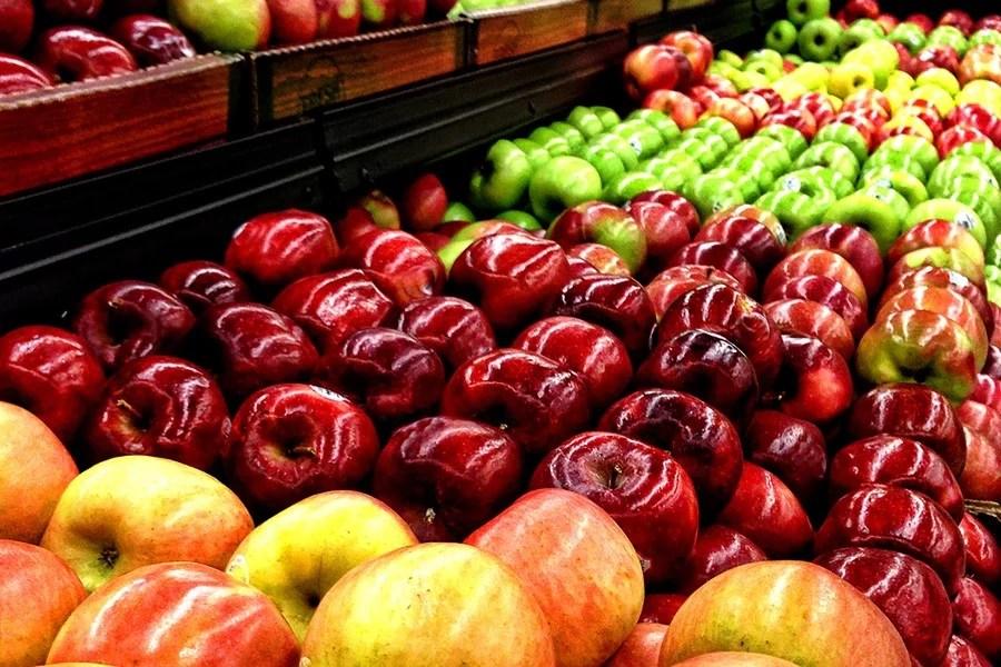 Pommes à l'étal
