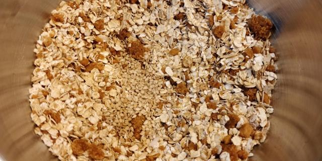 Ingredientes secos del crumble