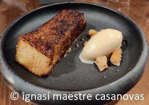 Torrija del Restaurante Canalla Bistro ignasi maestre casanovas