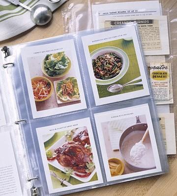 ¿Cómo organizas tus recetas en papel?