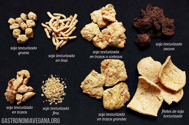 Tipos de soja texturizada