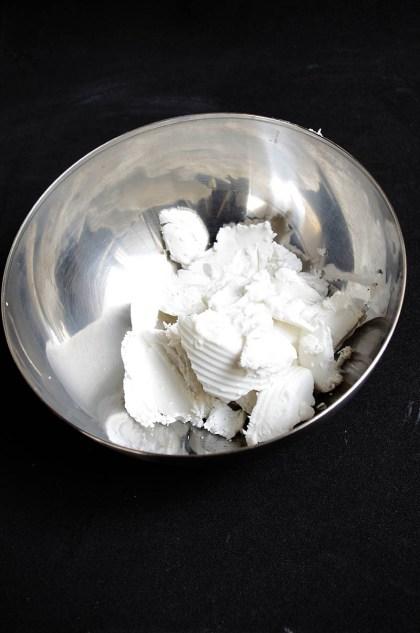 Leche de coco solidificada
