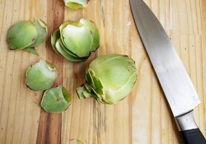 Preparar alcachofas